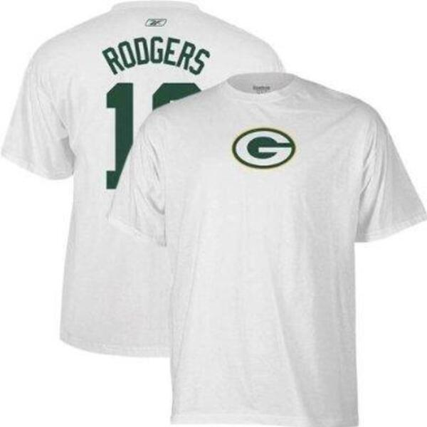Aaron Rodgers Name and Number T-Shirt