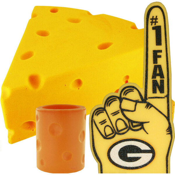 Cheesehead, Canholder, and Foam Finger Combo - Packers