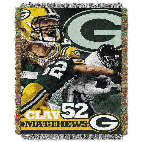 "Clay Matthews 48"" x 60"" Tapestry Throw Blanket"