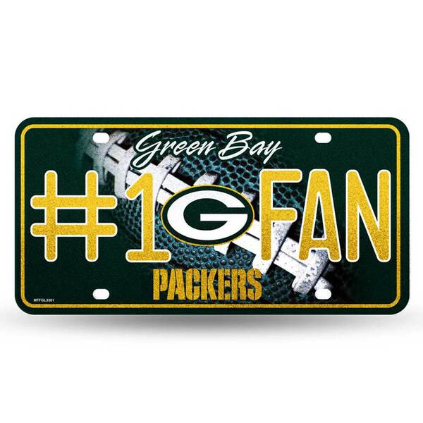 Packers #1 Fan Bling Metal License Plate