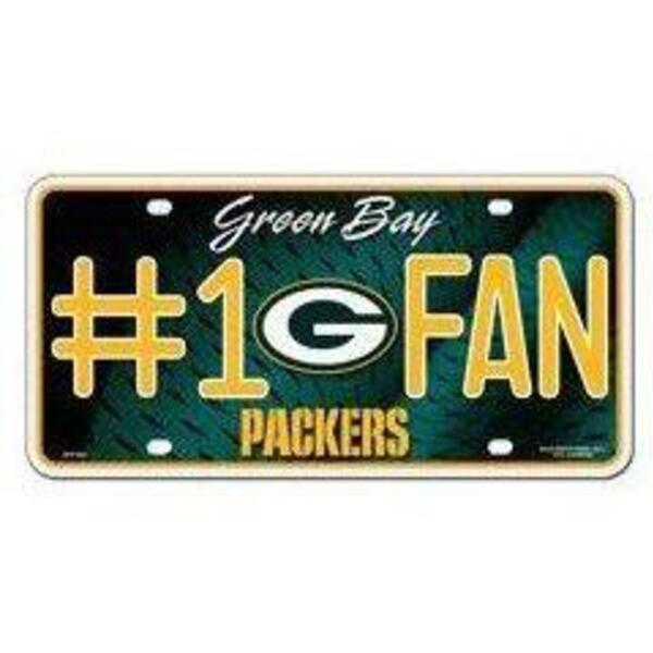 Packers #1 Fan Decorative Metal License Plate