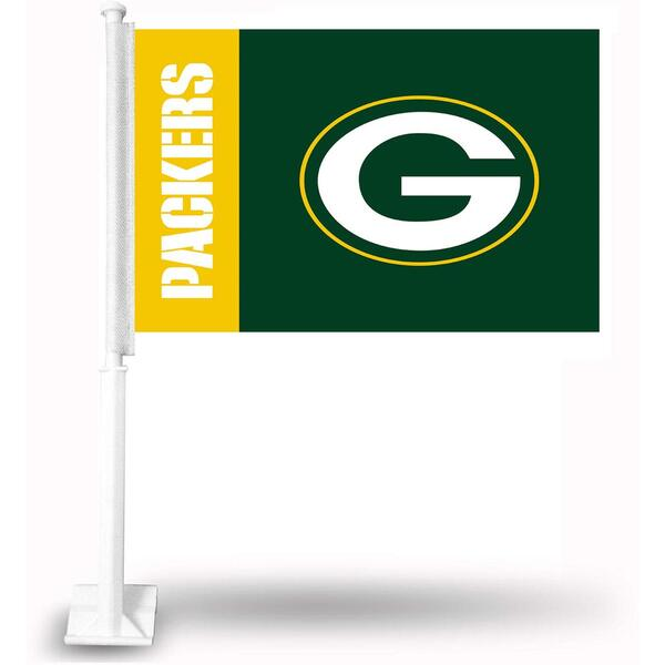 Packers 2-Sided Car Flag 2019