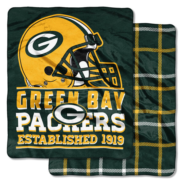 "Packers 50"" x 60"" Cloud Throw Homefield Throw Blanket"