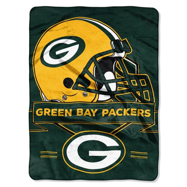 "Packers 60"" x 80"" Raschel Prestige Throw Blanket"