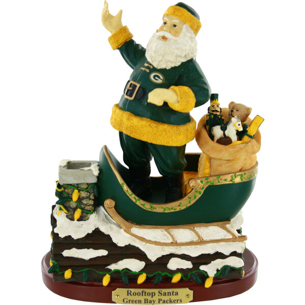 "Packers 7"" Collectible Rooftop Santa Figurine"