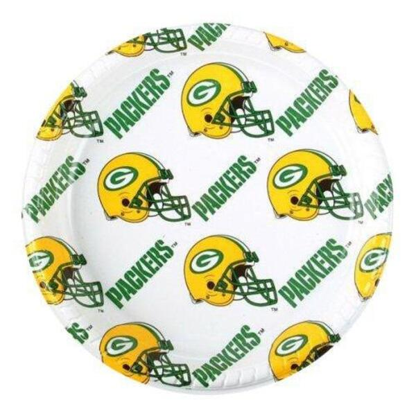 "Packers 9.5"" White Plastic Dinner Plates (12 count)"