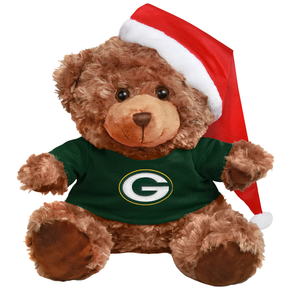 Packers Bear with Santa Hat