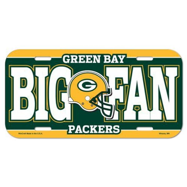 "Packers ""Big Fan"" Plastic License Plate"