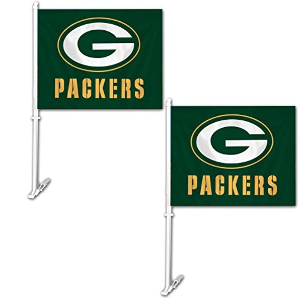 Packers Car Window Flags 2 Pack 2019