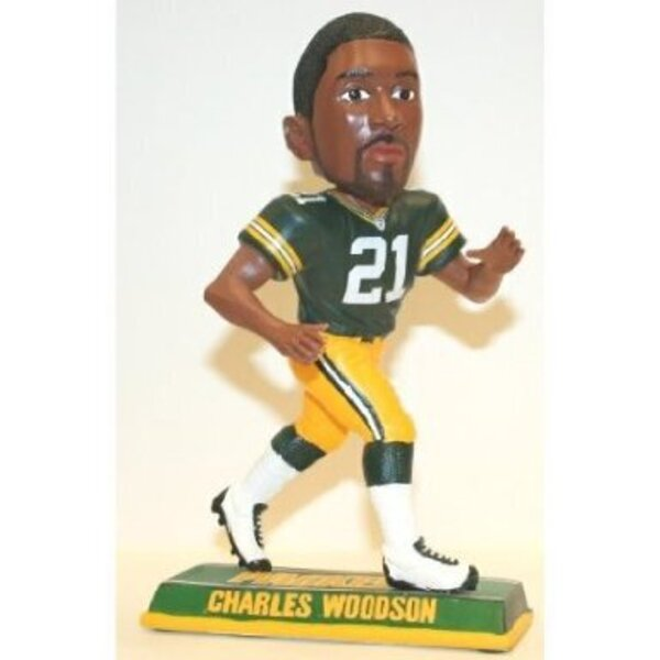 Packers Charles Woodson End Zone Bobblehead