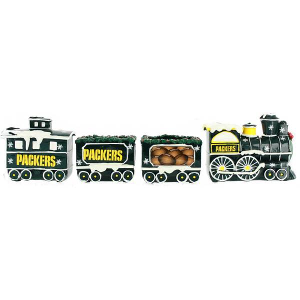 Packers Decorative Holiday Train Set
