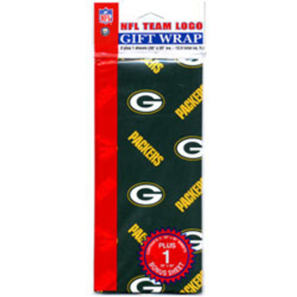 "Packers Flat Gift Wrap (20"" x 30"" Sheets)"