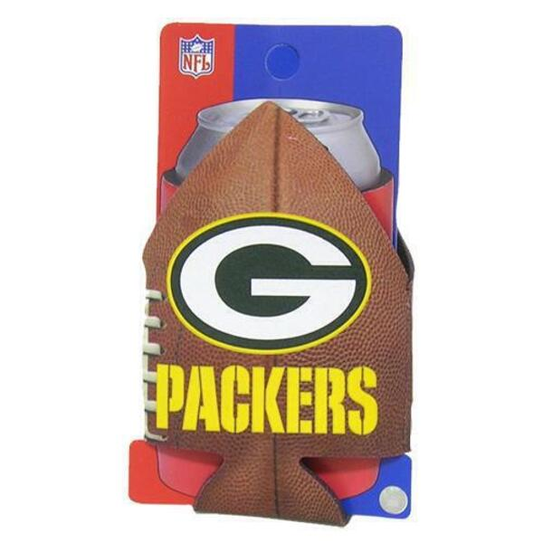 Packers Football Shaped Can Cooler