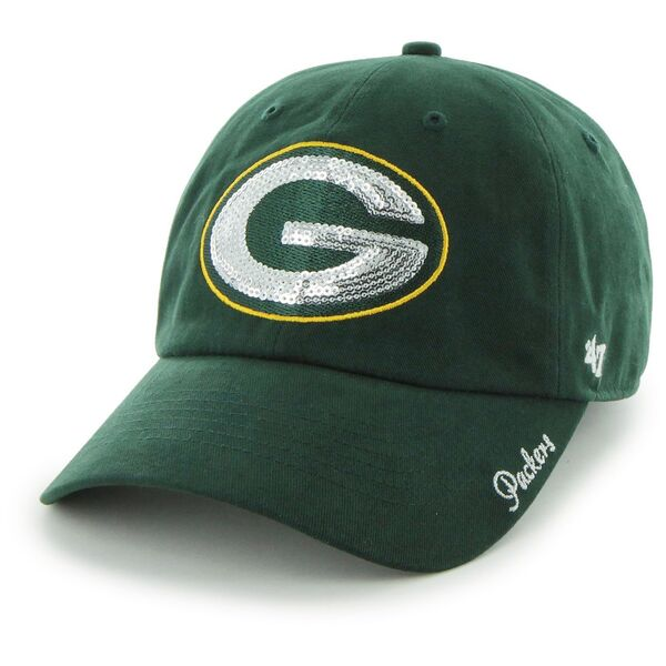 Packers Green Sparkle Team Women's Clean Up Adjustable Hat