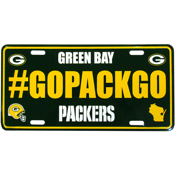 Packers Hashtag License Plate