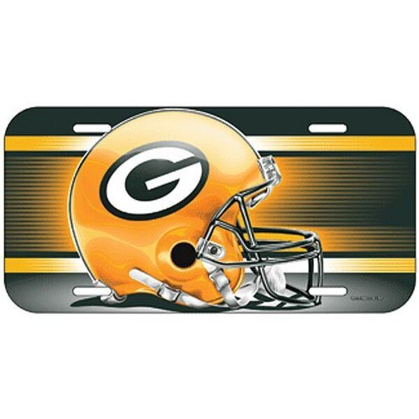 "Packers ""Helmet"" Plastic License Plate"