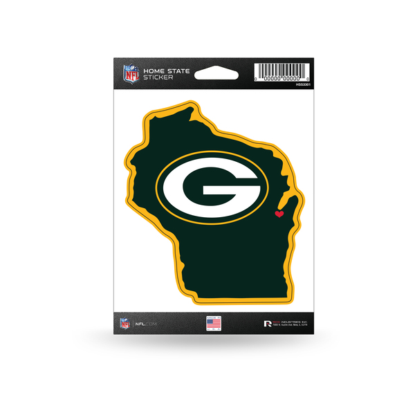 Packers Home State Sticker Image