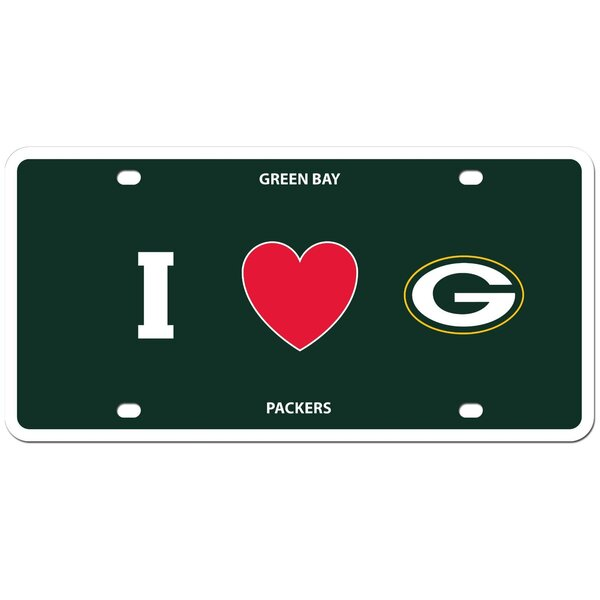 Packers I Love Green Bay License Plate