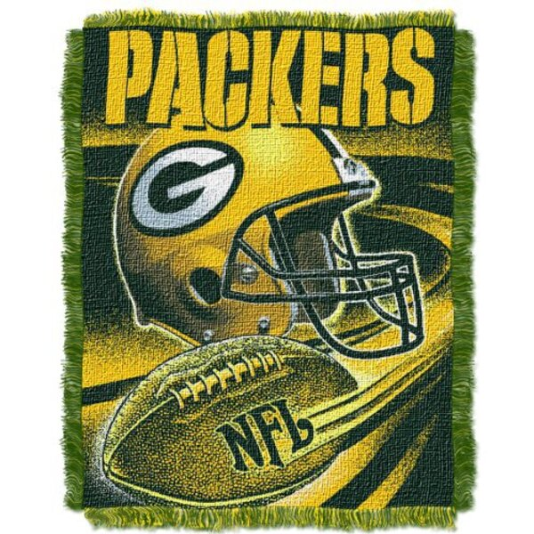 Packers Jacquard Spiral Football Throw