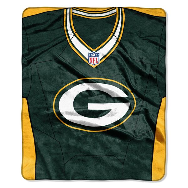 Packers Jersey Raschel Throw Blanket