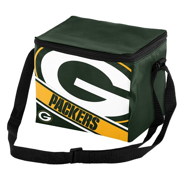 Packers Logo Stripe 6-Pack Lunch Cooler