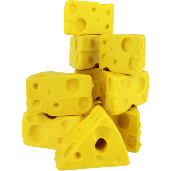 Packers Mini Cheesehead Cheese Wedge Pencil Erasers (Set of 10)