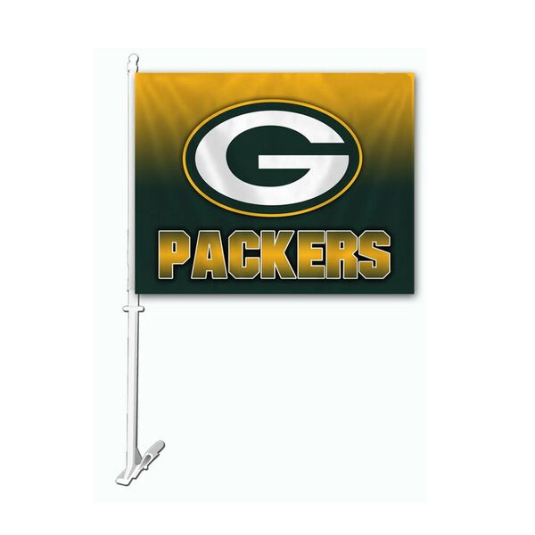 Packers Ombre Car Flag