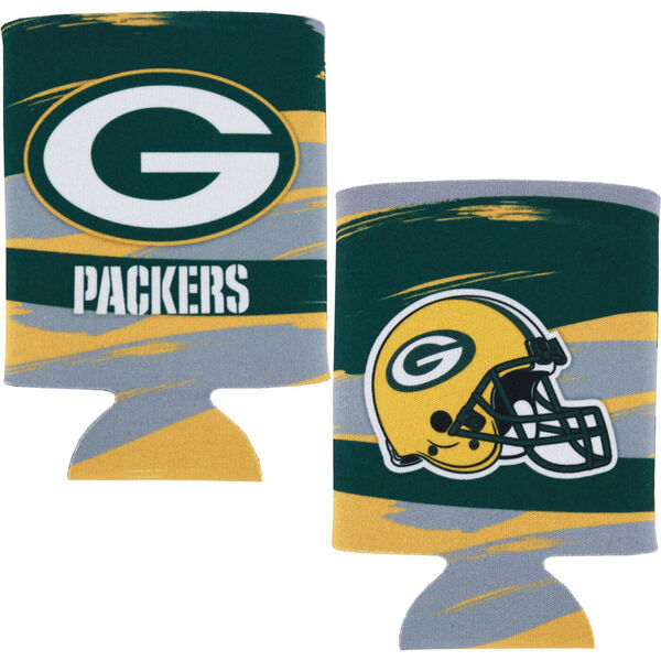 Packers Paint Brush 2FER Can Cooler
