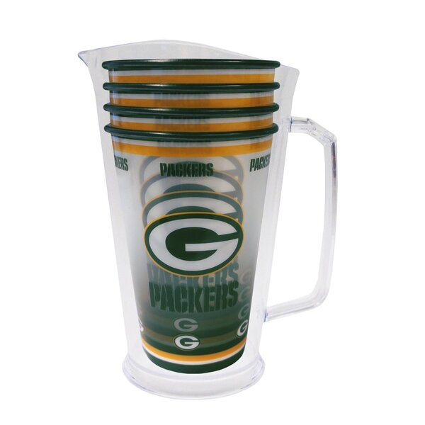 Packers Plastic Pitcher Tailgate Set