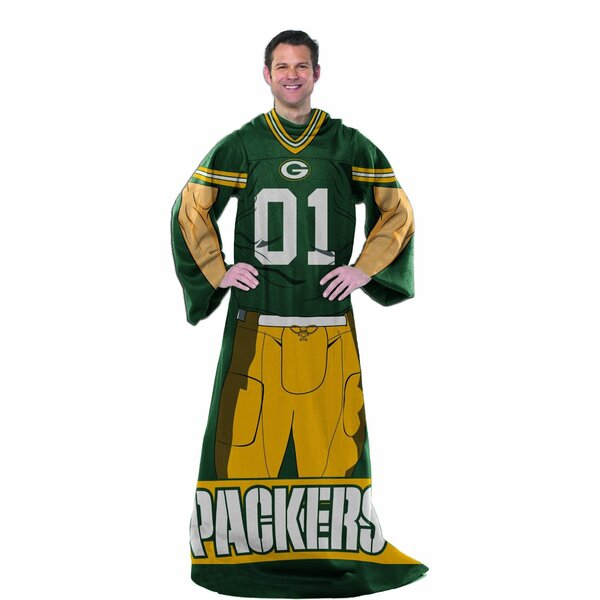 Packers Player Comfy Throw Blanket with Sleeves