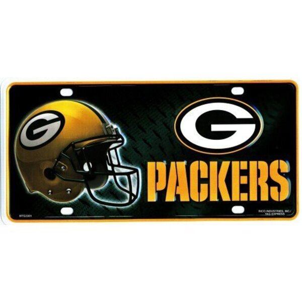 Packers Primary Logo Metal License Plate