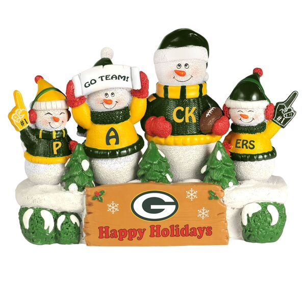 Packers Resin Snowman Bench