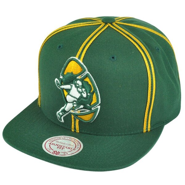 Packers Throwback Vintage Logo Double Soutache Snapback Hat