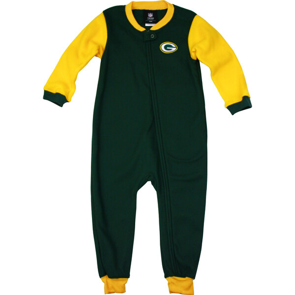 Packers Toddler Full Zip Blocked Blanket Sleeper