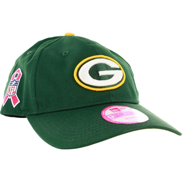 Packers Women's Sideline 940 Breast Cancer Awareness Adjustable Hat
