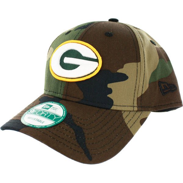 Packers Woodland Camo Adjustable Baseball Cap