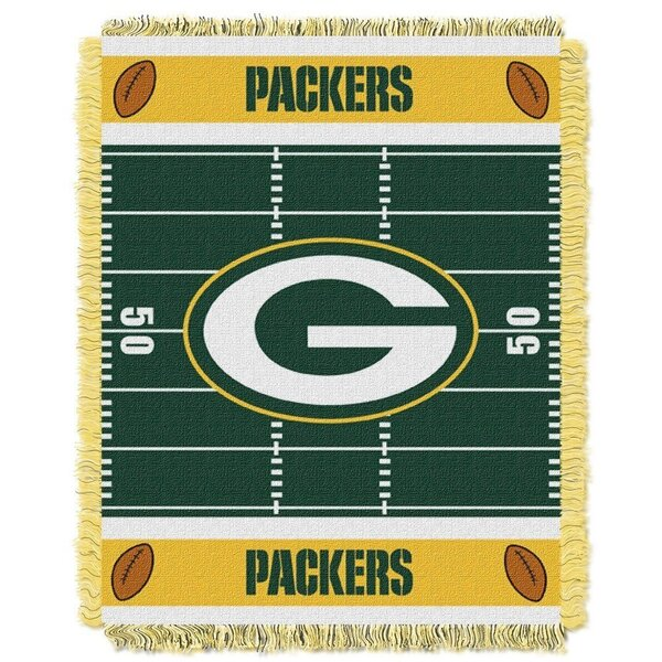 Packers Woven Jacquard Baby Throw Blanket